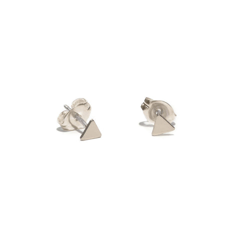 Tiny Triangle Studs - Bing Bang Jewelry NYC