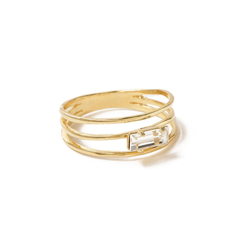 Stacked Baguette Ring - Bing Bang NYC