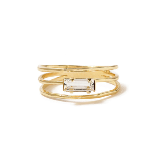 Stacked Baguette Ring - Bing Bang NYC - 3