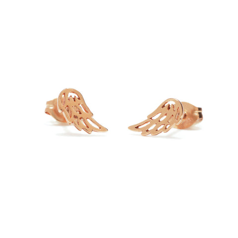 Little Wing Studs-Rose Gold - Bing Bang Jewelry NYC
