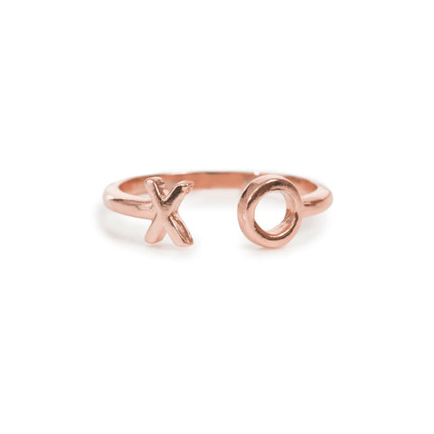 XO Open Ring- Rose Gold - Bing Bang Jewelry NYC