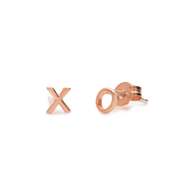 Tiny 'XO' Studs - Bing Bang Jewelry NYC