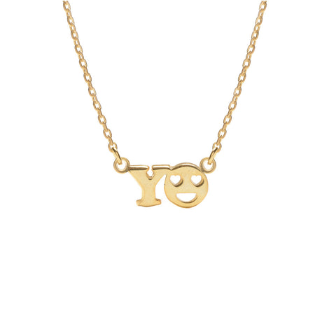 YO Necklace - Bing Bang Jewelry NYC