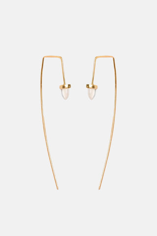 Zenith Threader Earrings - Long - Bing Bang Jewelry NYC