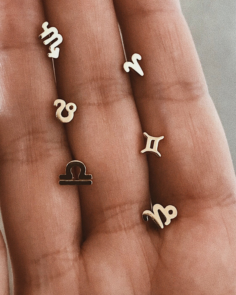 Tiny Zodiac Studs - Bing Bang Jewelry NYC