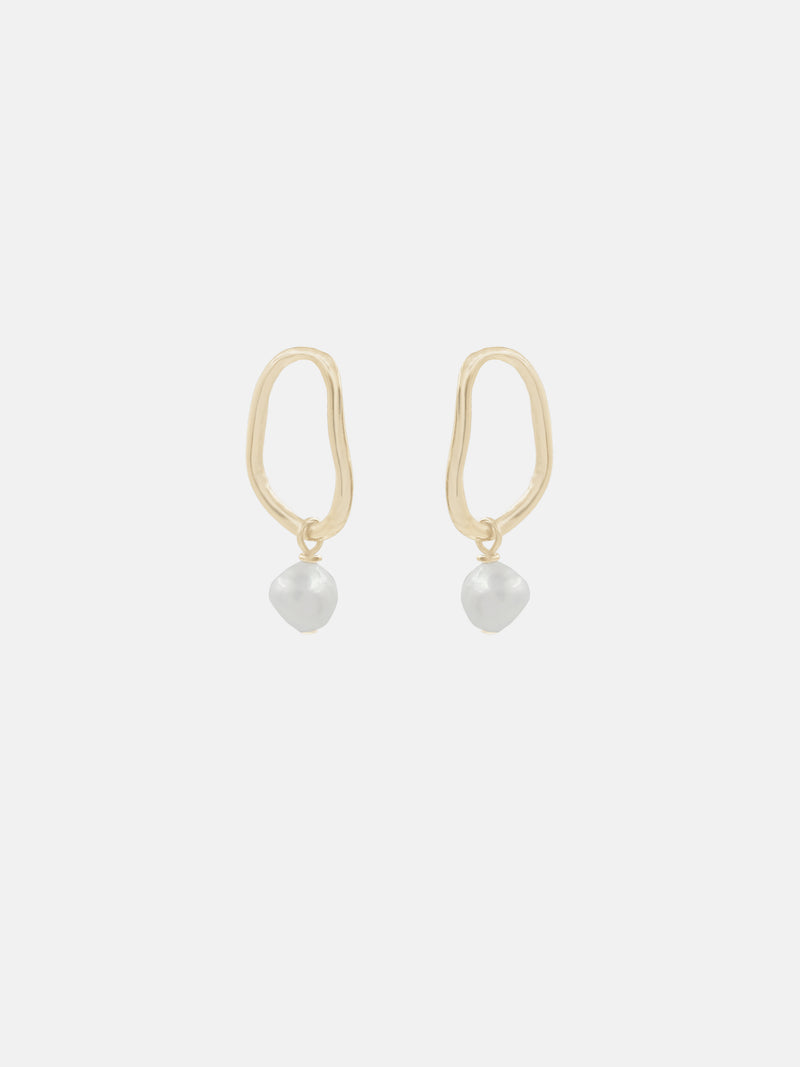Aalto Mini Pearl Drop Earrings - Bing Bang Jewelry NYC