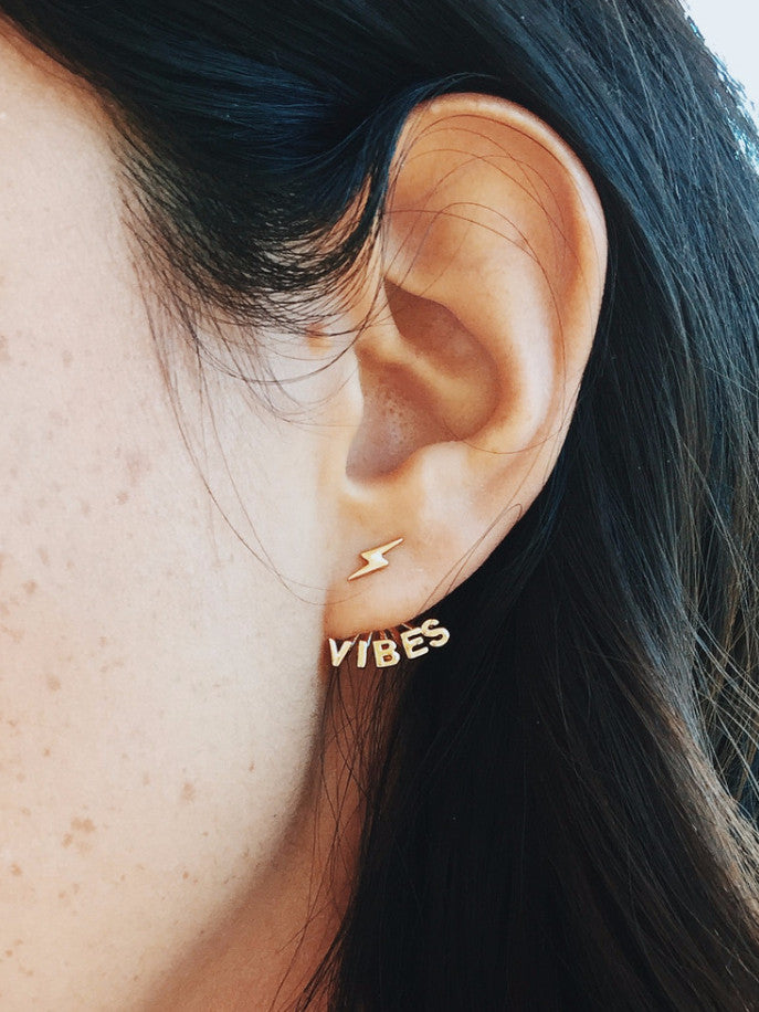 Good Vibes Earring Jackets - Bing Bang Jewelry NYC