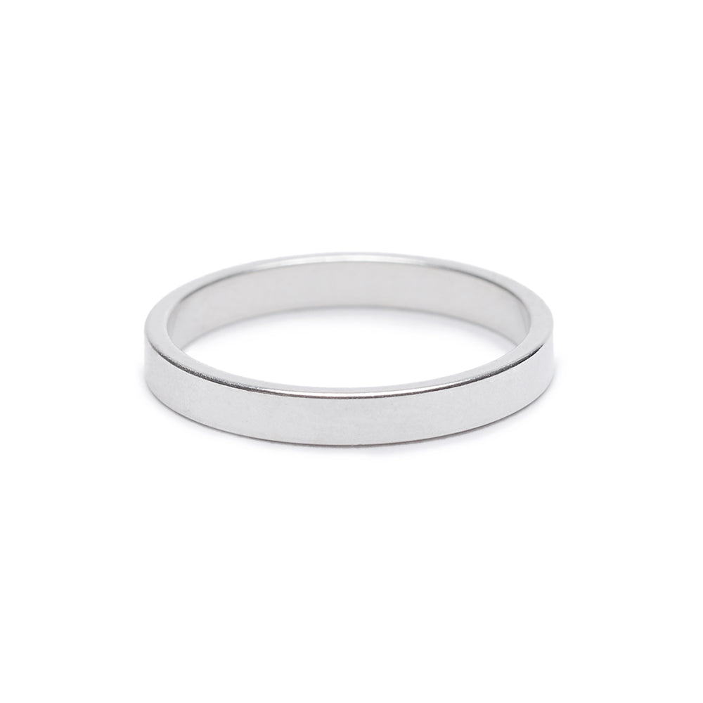 Minimal Flat Band - Classic - Bing Bang Jewelry NYC