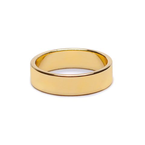 Minimal Flat Band - Wide - Bing Bang Jewelry NYC