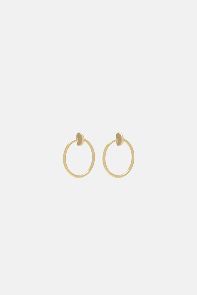 Moon Hoop Earrings - Petit - Bing Bang Jewelry NYC
