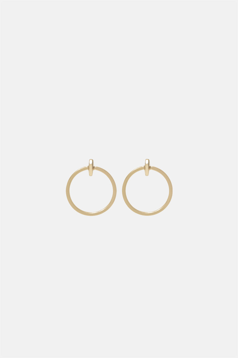 Moon Hoop Earrings - Petit - Bing Bang NYC
