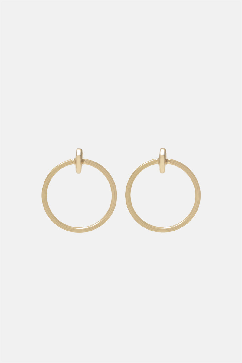 Moon Hoop Earrings - Large - Bing Bang Jewelry NYC