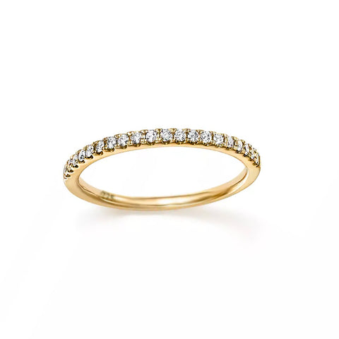 Tiny Pavé Band - Bing Bang Jewelry NYC