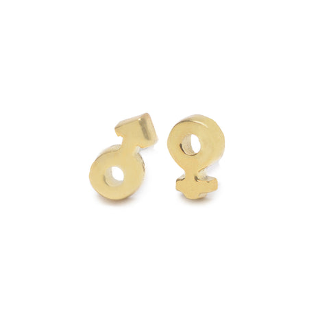 Tiny Venus / Mars Studs - Bing Bang Jewelry NYC