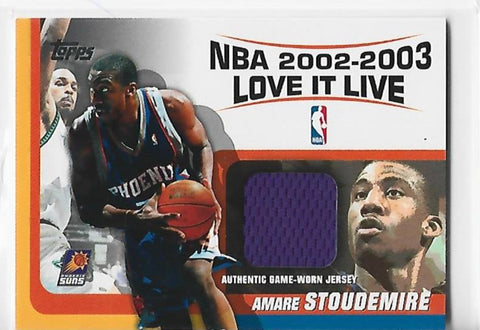 Amare Stoudemire 2002-2003 Topps #LLR-AS Game Worn Jersey