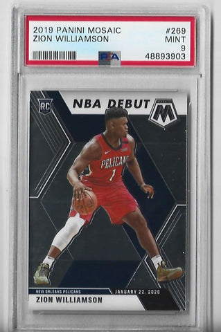 Zion Williamson 2019 Panini Mosaic #269 (PSA 9 Mint) Card