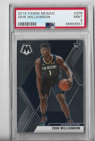 Copy of Zion Williamson 2019 Panini Mosaic #269 (PSA 9 Mint) Card