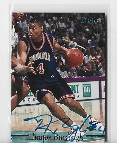 Junior Burrough 1995 Classic (236/3220) Autograph Basketball Rookie Card