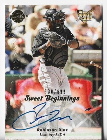 Robinzon Diaz 2008 Upper Deck Sweet Spot #146 (530/699) Autograph Rookie Card