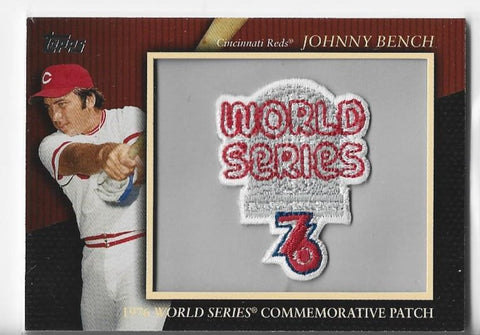 Johnny Bench 2010 Topps Updates Series #MCP128 Patch Card