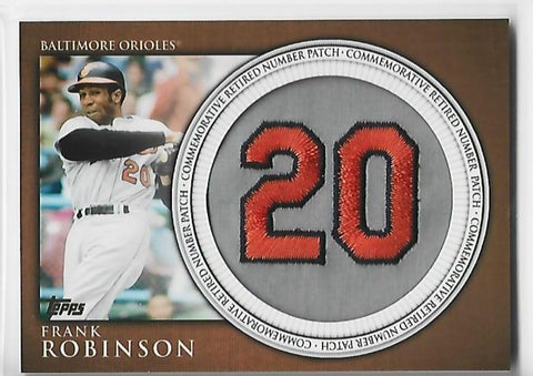 Frank Robinson 2012 Topps Retired Number Patch #RN-FR Card