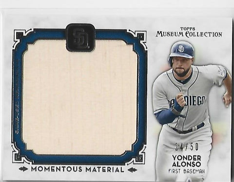 Yonder Alonso 2014 Topps Jumbo Relic #MMJR-YA Game Used Bat Card