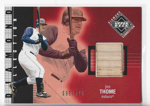 Jim Thome 2002 Upper Deck Diamond Connection #395 Game-Used Bat Card