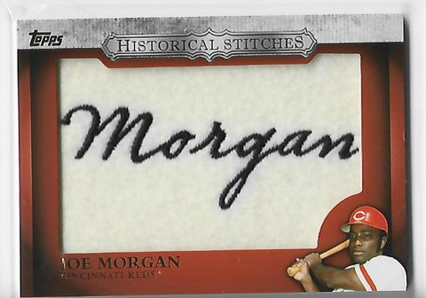 Joe Morgan 2012 Topps Historical Stitches #HS-JM Stitches Patch Card