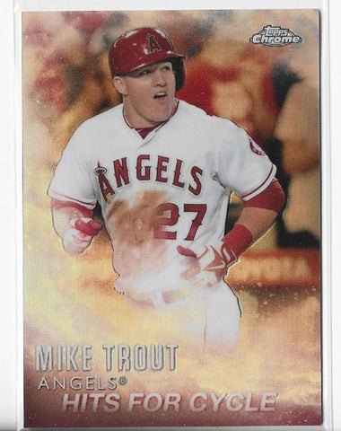 Mike Trout 2016 Topps Chrome #MT-3 Card