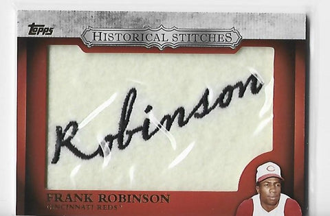 Frank Robinson 2012 Topps Historical Stitches #HS-FR Stitches Patch Card