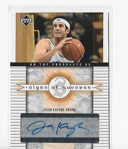 Jason Kapono 2003 Upper Deck Top Prospects #SS-JK Autograph Card