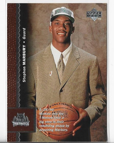 Stephon Marbury 1996 Upper Deck #74 Rookie Card