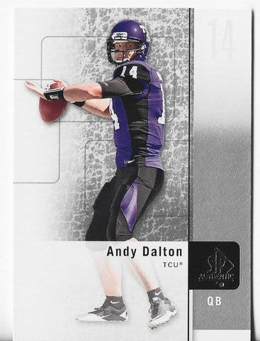 Andy Dalton 2011 Upper Deck SP Authentic #21 Rookie Card