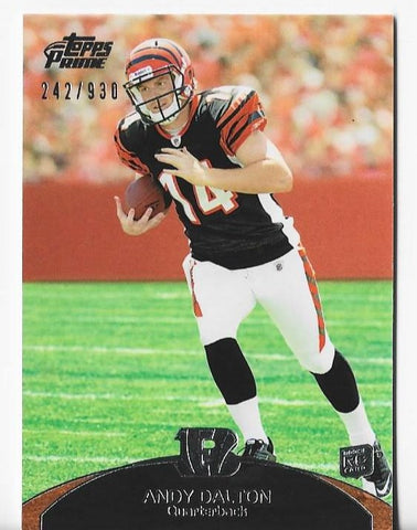 Andy Dalton 2011 Topps Prime #113 (242/930) Rookie Card