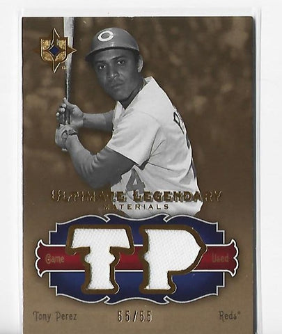 Tony Perez 2006 Upper Deck #LM-TP2 (55/55) Game Used Jersey Card
