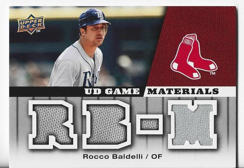 Rocco Baldelli 2009 Game Materials #GM-RB Game-Used Memorabilia Card
