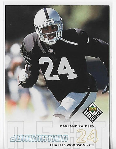 Charles Woodson 1998 Upper Deck Choice #259 Rookie Card