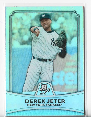 Derek Jeter 2010 Bowman Platinum Moments #2 (447/999) Card