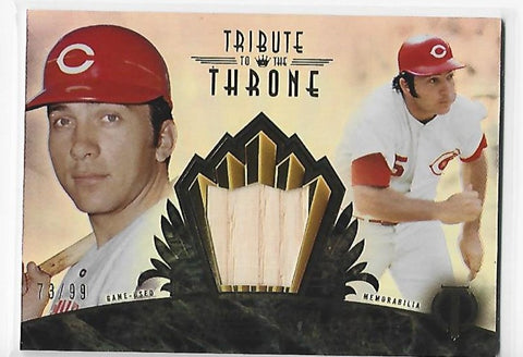 Johnny Bench 2014 Topps Tribute To The Throne #THRONE-JB Memorabilia Card