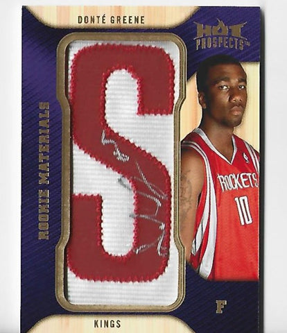 Donte Greene 2008-09 Fleer Hot Prospects #RM-GR Autograph Patch Card