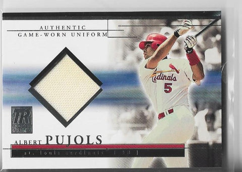Albert Pujols 2002 Topps Reserve #TRJ-AP Game-Worn Uniform Card