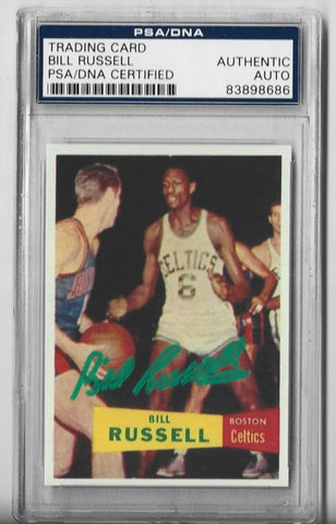 Bill Russell 1957 Topps #77 Autograph PSA/DNA Certified Card
