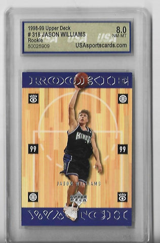 Jason Williams 1998-99 Upper Deck #318 (8.0 NM-MT) Rookie Card