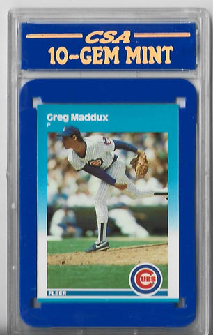 Greg Maddux 1987 Fleer #U-86 (CSA Grade 10-GEM MINT) Card