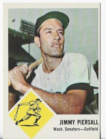 Jimmy Piersall 1962 Fleer Card