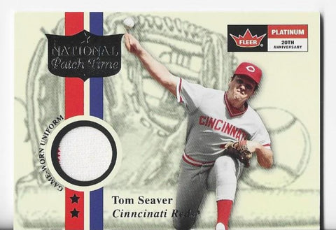 Tom Seaver 2001 Fleer Platinum National Patch Time Game-Worn Uniform Card