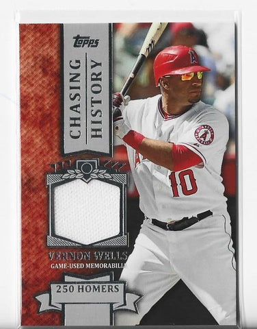 Vernon Wells 2013 Topps Chasing History #CHR-VW Game-Used Memorabilia Card