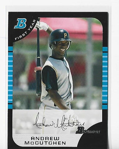 Andrew McCutchen 2005 Topps #BDP63 Bowman Draft Chrome Rookie Card