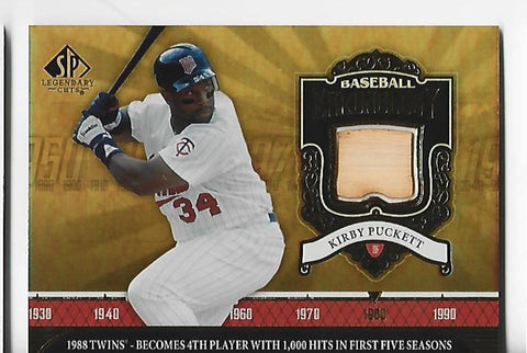 Kirby Puckett 2006 Upper Deck SP #BC-KP Memorabilia Card