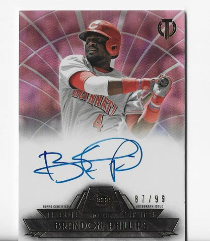 Brandon Phillips 2014 Topps Tribute #TBT-BP (87/99) Autograph Card